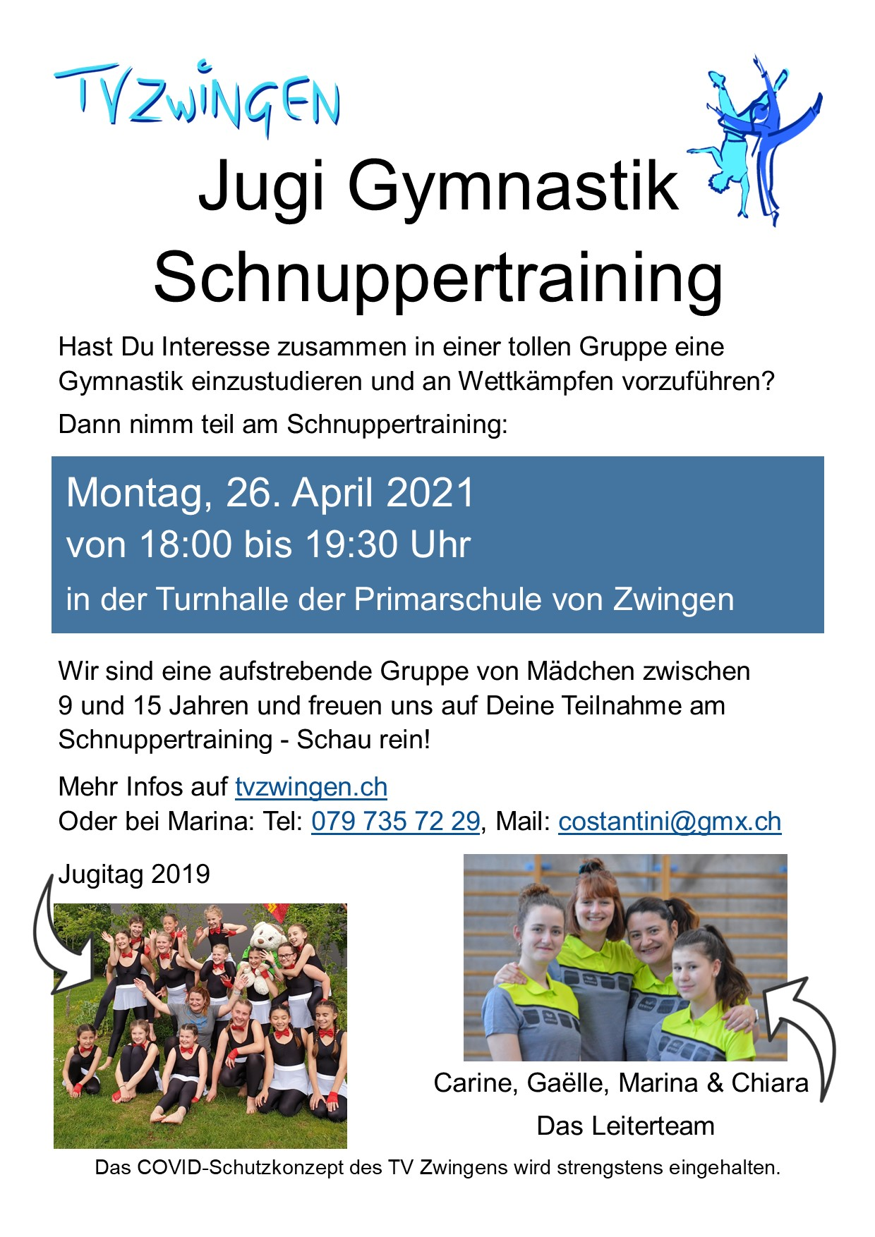 Schnuppertraining 2021 Gymnastik Jugi